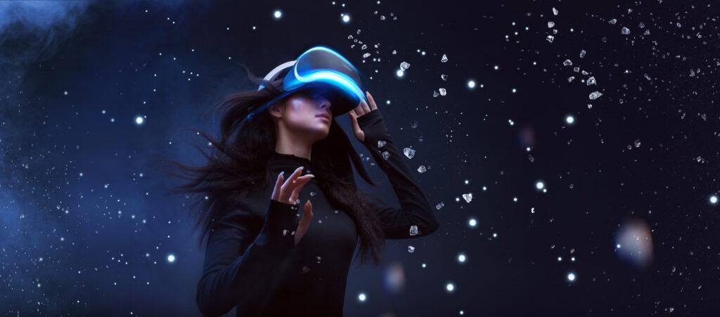 VR woman